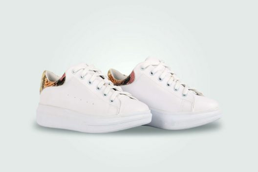 Alexis Dotted Laces Sneakers - Snake