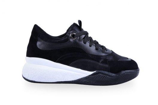 Ayla Sneakers - Black Suede
