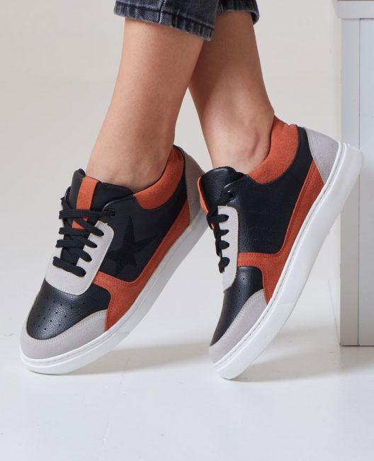 New B-Star Sneakers - Orange Black