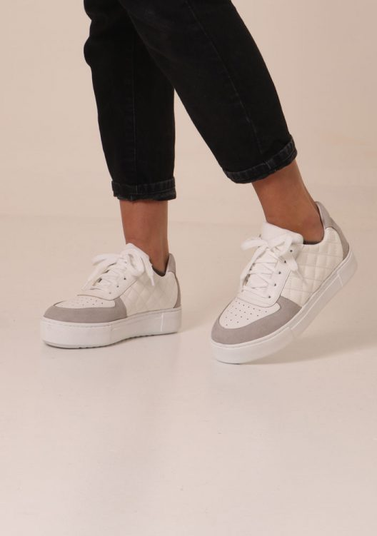 Quilted Ray Sneakers - White