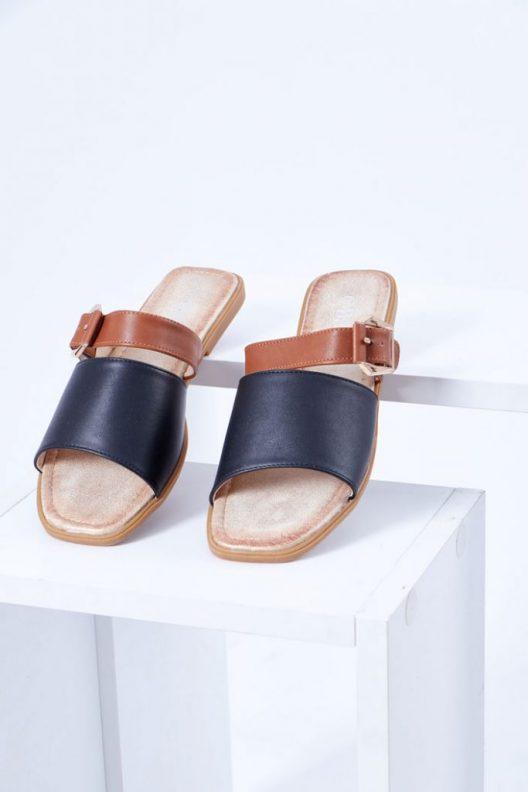Joya Flats - Black Leather