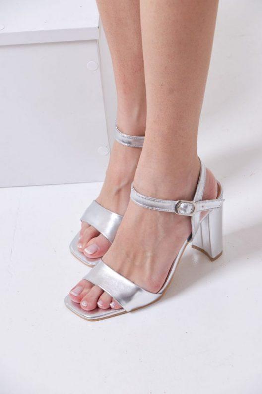 Vienna Block Heels - Silver