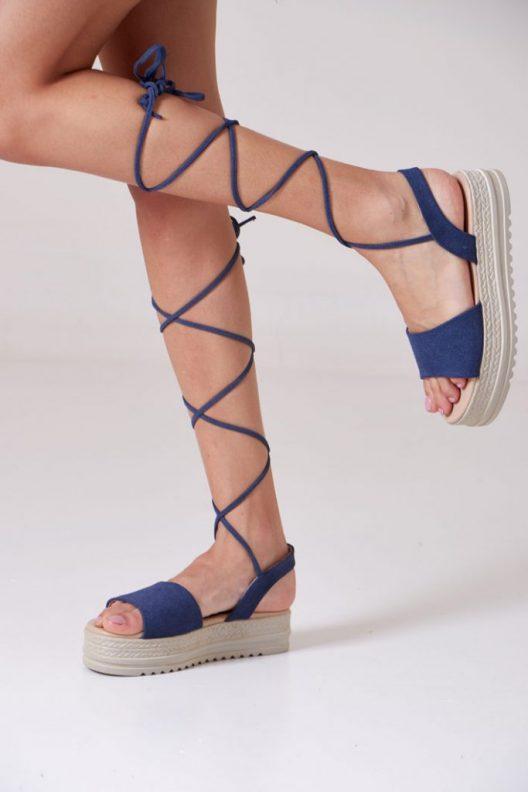 Gladis Platform Sandals - Blue