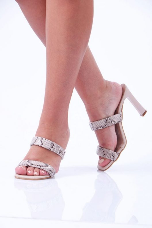 Rhea Scarpin - Snake Beige