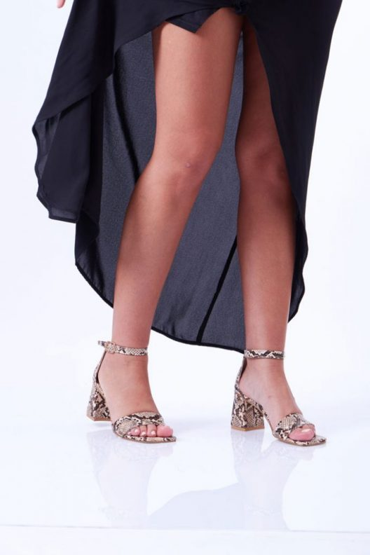 Ruby Sandals - Snake Brown